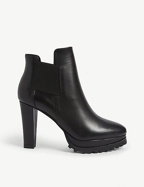 ALLSAINTS: Sarris platform heeled leather boots