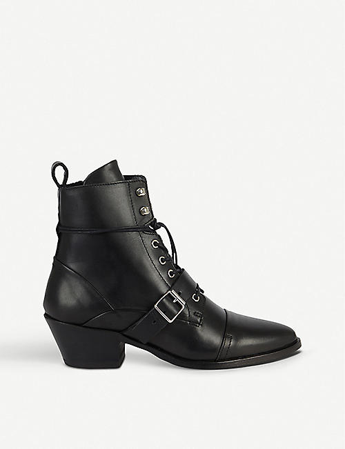 ALLSAINTS: Katy heeled leather boots