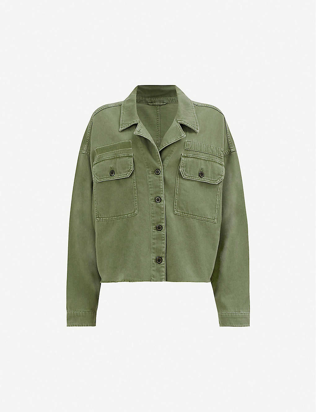 b08e7b1eb ALLSAINTS - Morten frayed-hem denim shirt jacket | Selfridges.com