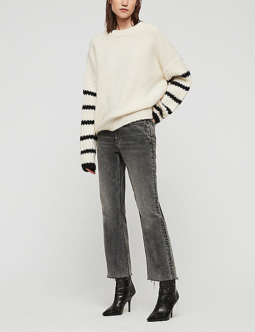 ALLSAINTS Eldon striped knitted wool-blend jumper