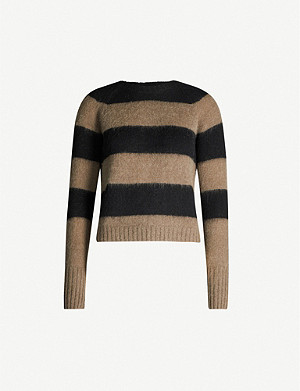 ALLSAINTS Lou striped slim-fit knitted jumper