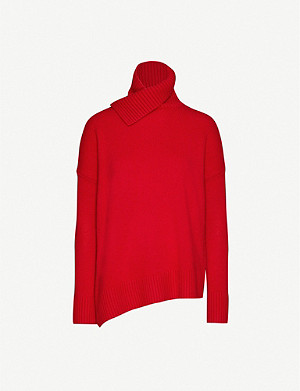 ALLSAINTS Witby shawl-collar asymmetric cashmere jumper