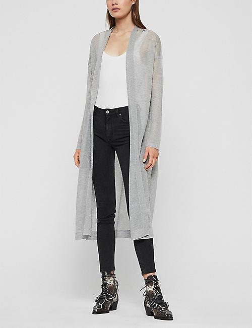 452f276bc94e ALLSAINTS Fleur long-line knit cardigan