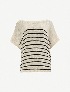 ALLSAINTS Carova striped cotton-blend T-shirt
