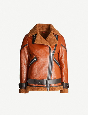 ALLSAINTS Hawley leather and shearling jacket