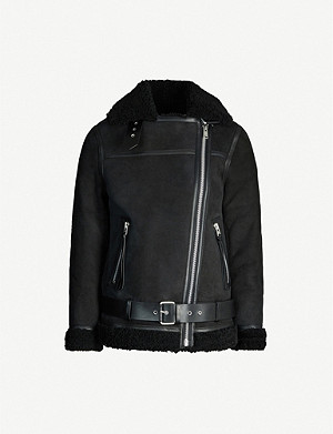 ALLSAINTS Rei shearling leather biker jacket