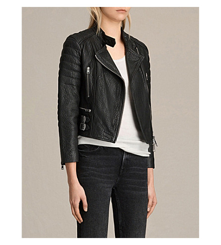 Allsaints Leathers Silsden quilted leather jacket