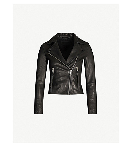 ... ALLSAINTS Dalby leather biker jacket (Black. PreviousNext 142193dc0