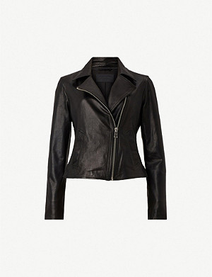 ALLSAINTS Vela lamb leather biker jacket