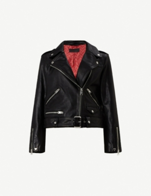 ALLSAINTS Estae lamb leather biker jacket