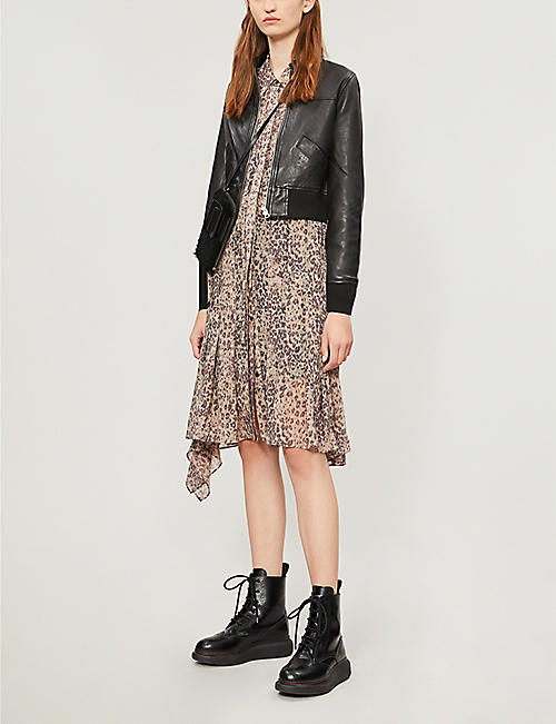 ALLSAINTS Pascao leather bomber jacket
