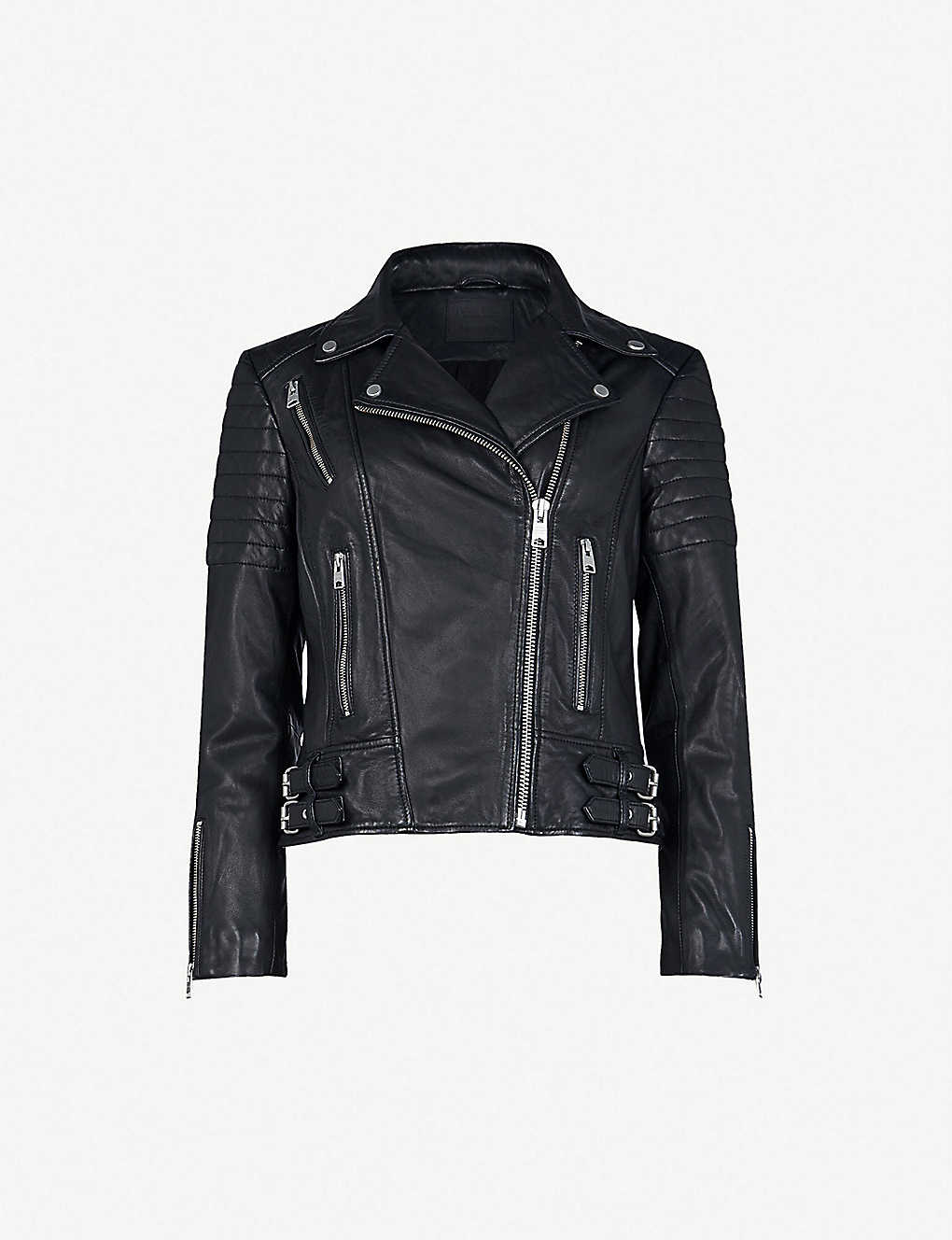 e4154e0cf ALLSAINTS - Papin leather biker jacket | Selfridges.com