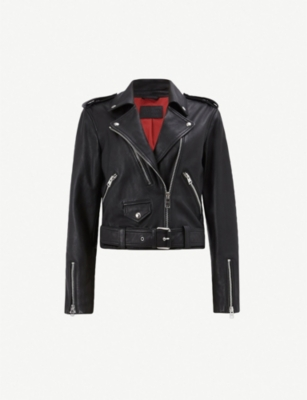 ALLSAINTS Lexi cropped leather biker jacket