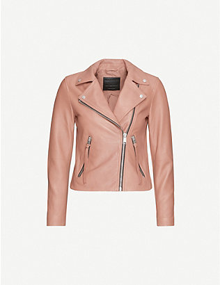 ALLSAINTS: Dalby leather biker jacket