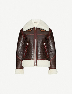 ALLSAINTS Elder oversized collared shearling jacket