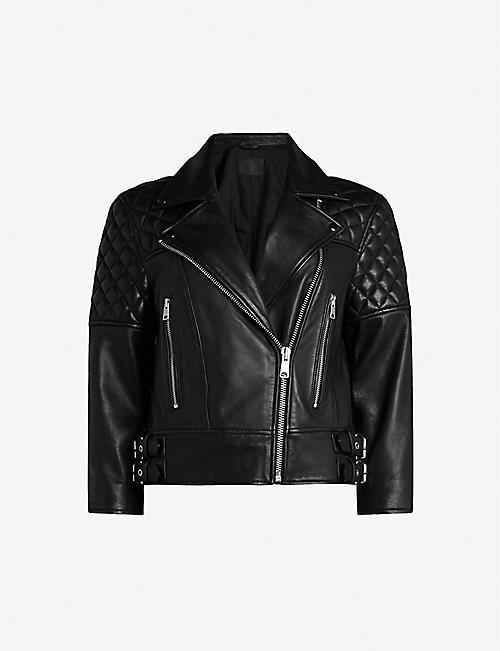 ALLSAINTS Beattie leather biker jacket