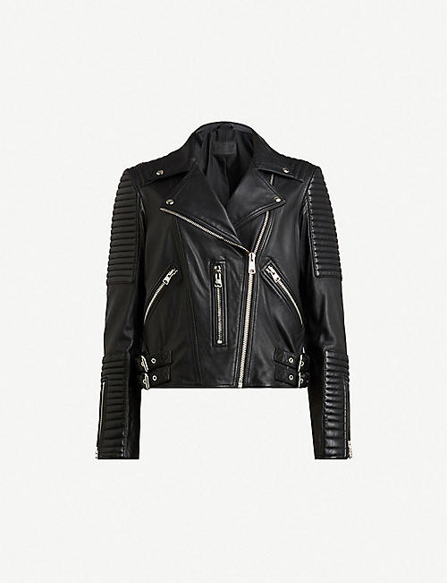 ALLSAINTS: Estella leather biker jacket