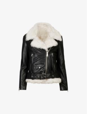 ALLSAINTS Luna 4 in 1 leather and shearling biker jacket