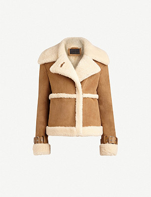ALLSAINTS Farley suede and shearling jacket