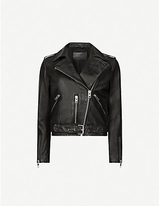 ALLSAINTS: Balfern leather biker jacket