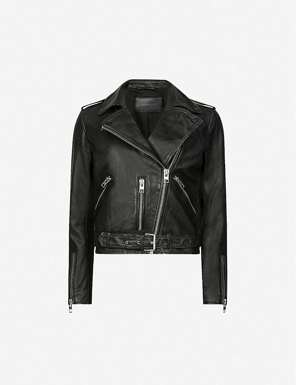 946a358eb956e ALLSAINTS - Balfern leather biker jacket | Selfridges.com