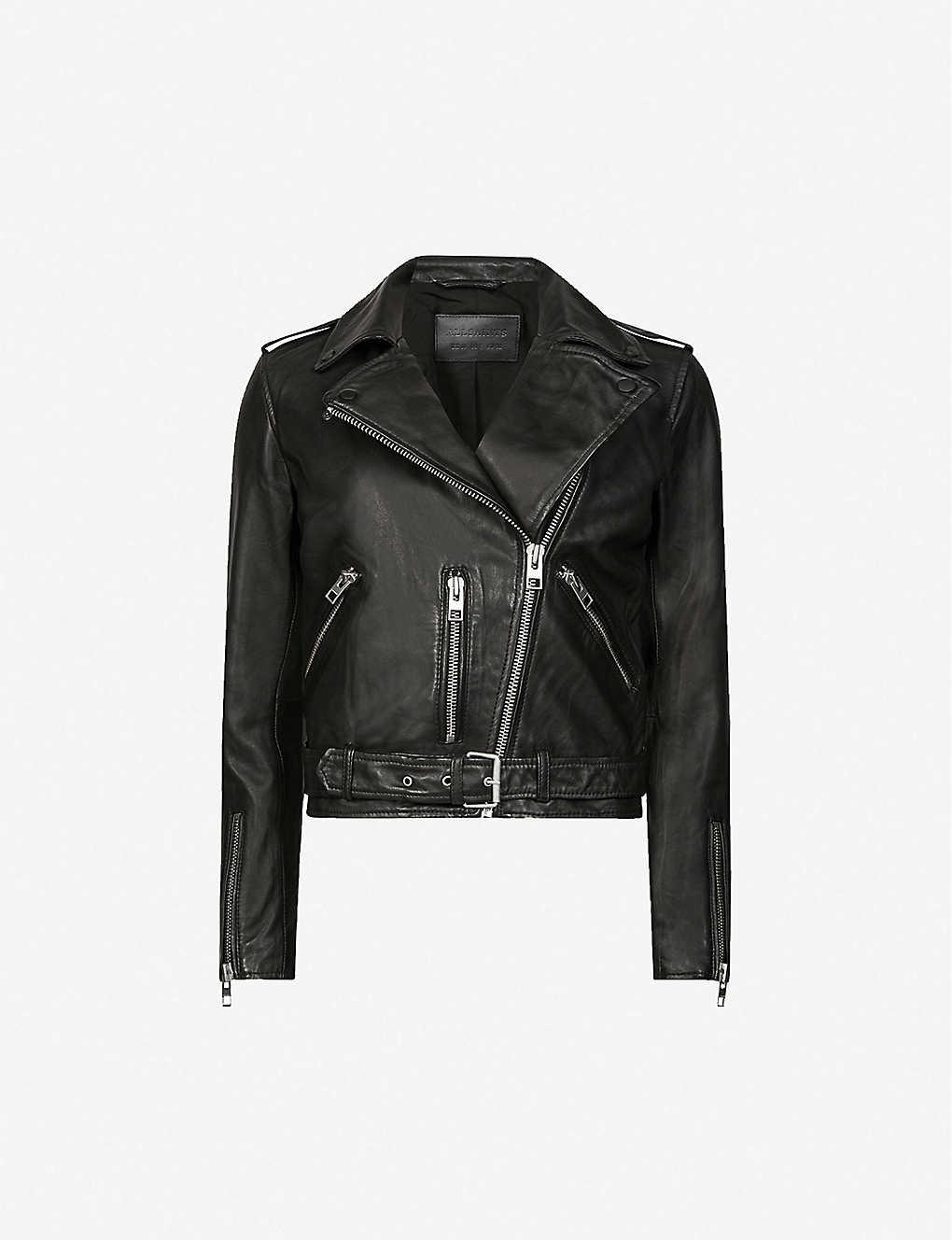 ffd37937f ALLSAINTS - Balfern leather biker jacket | Selfridges.com