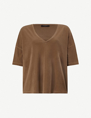 ALLSAINTS Mina V-neck cotton-jersey T-shirt