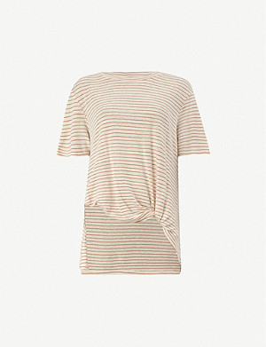 ALLSAINTS Wilma striped cotton-jersey T-shirt