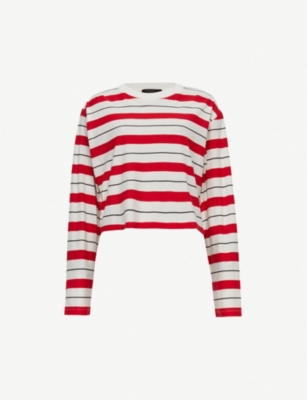 ALLSAINTS Benno striped cotton-jersey T-shirt