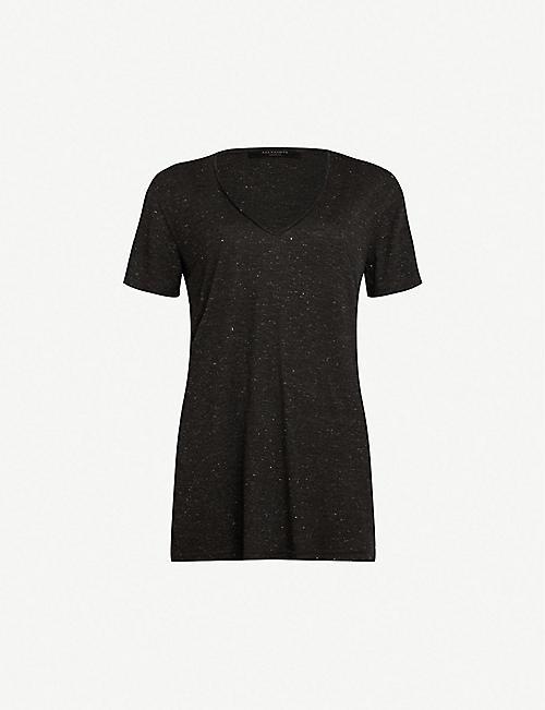 80e83d5a3 ALLSAINTS Emelyn Shimmer jersey T-shirt