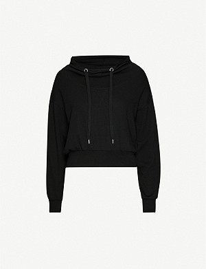 ALLSAINTS Rita logo-embroidered cotton-jersey hoody