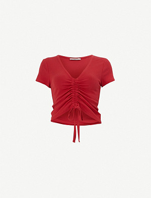 ALLSAINTS Rina short-sleeved stretch-lyocell top