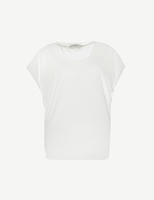 ALLSAINTS Brea modal and silk-blend T-shirt