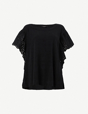ALLSAINTS Noja cotton and linen-blend T-shirt