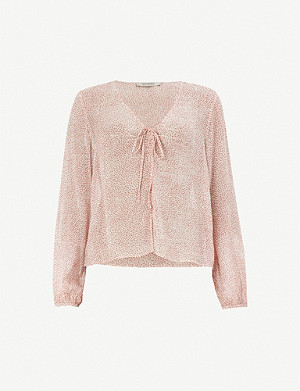 ALLSAINTS Sevin Leox dotted woven top