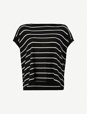 ALLSAINTS Pina striped linen and cotton-blend T-shirt