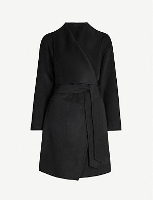 ALLSAINTS Adalee dropped-shoulder wool-blend coat