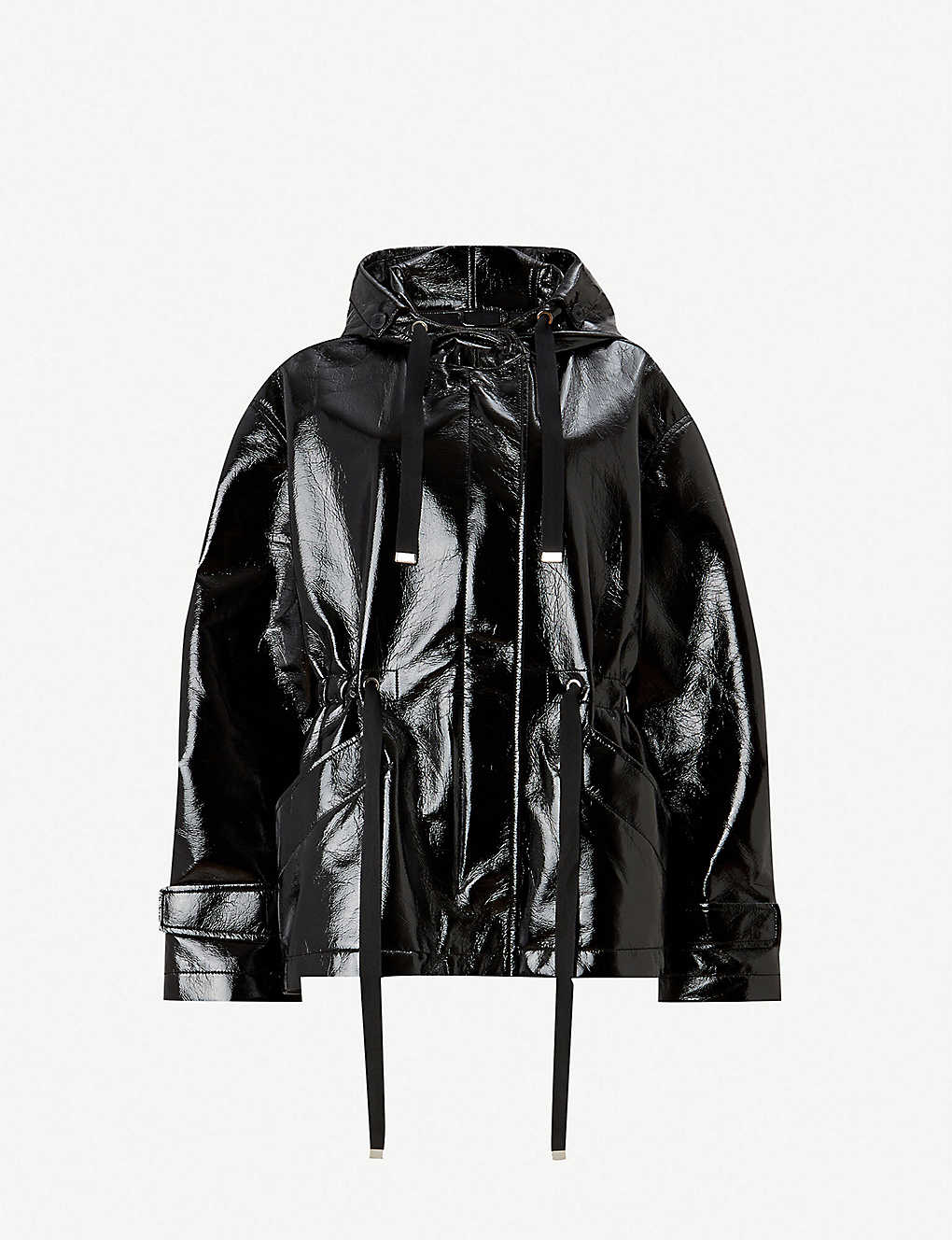 97fc711c34d Kelsie faux-leather hooded jacket