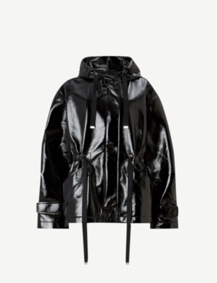 ALLSAINTS Kelsie faux-leather hooded jacket