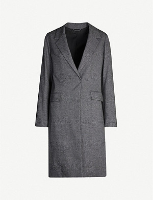 ALLSAINTS Aleida checked woven coat