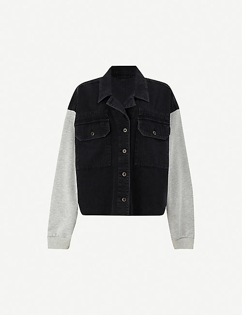 ALLSAINTS Morten military stretch-cotton jacket