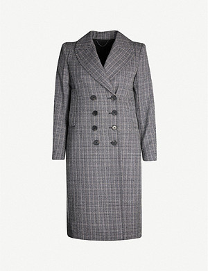 ALLSAINTS Blair check wool-blend coat
