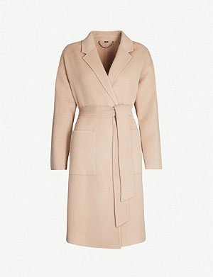 ALLSAINTS Albie dropped-shoulders wool-blend coat