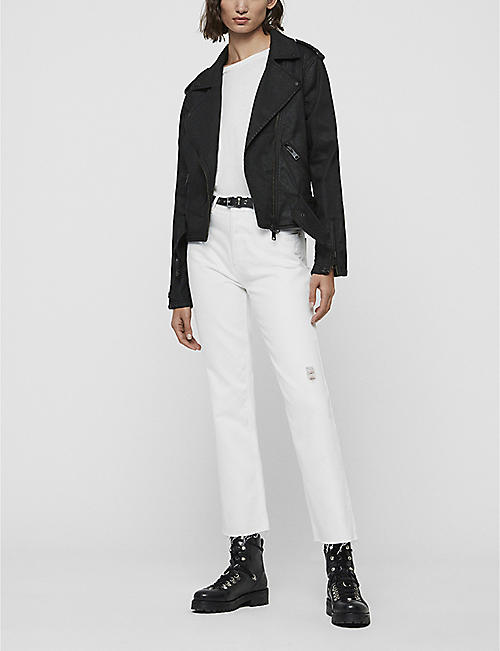 ALLSAINTS Micah stretch-denim biker jacket