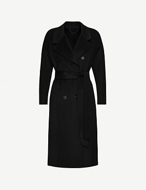 ALLSAINTS Maddison tie-belt wool-blend coat