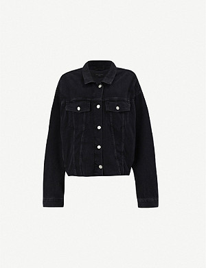 ALLSAINTS Piper oversized stretch-denim jacket