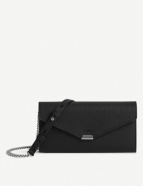 ALLSAINTS: Captain leather chain wallet