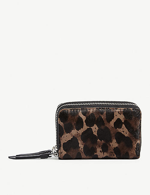 ALLSAINTS Kim leather card holder