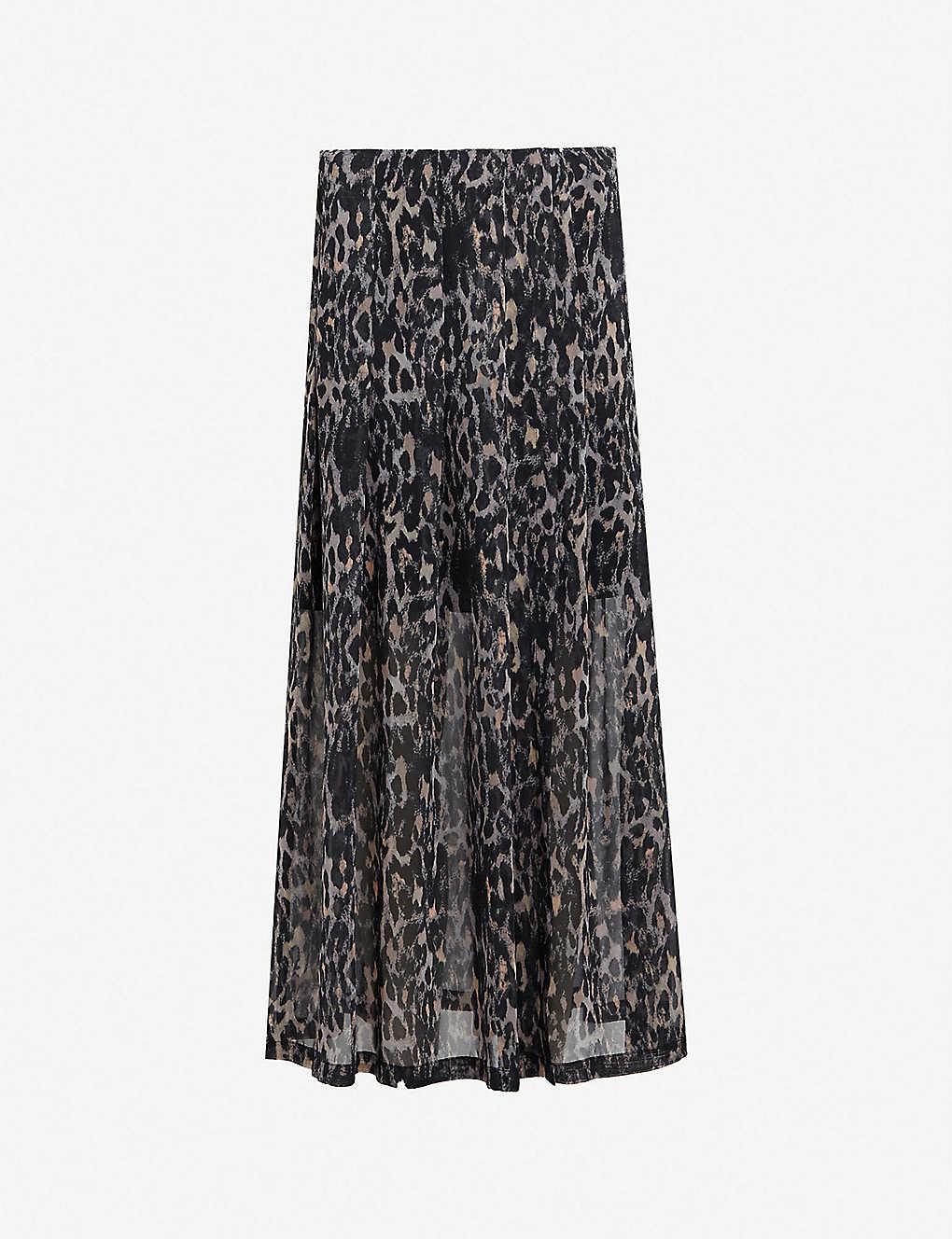 b9a6a7622c ALLSAINTS - Drea leopard-print woven midi skirt