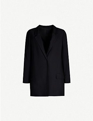 ALLSAINTS: Aleida single-breasted woven jacket